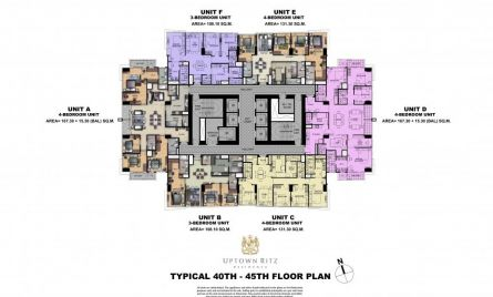 Typical 40th-45th Floor Plan