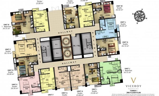 2nd Floor Plan (Tower 1)