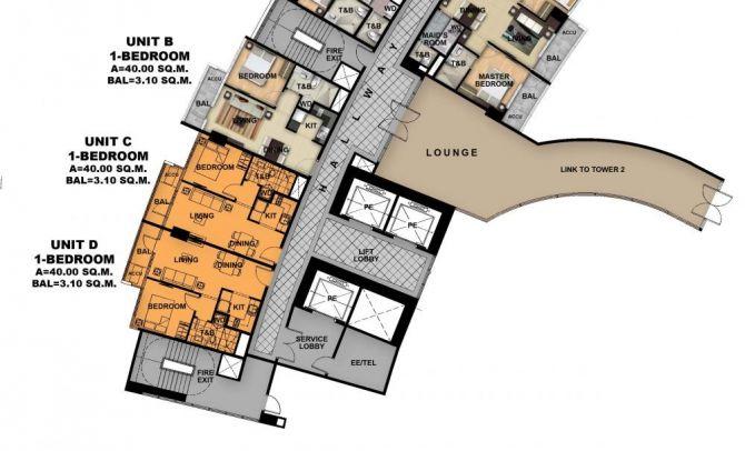 Ground Floor Plan (Tower 1)