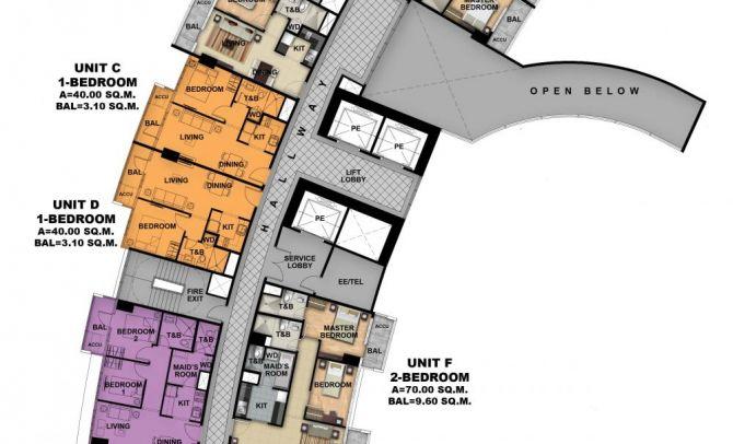 Second Floor Plan (Tower 1)