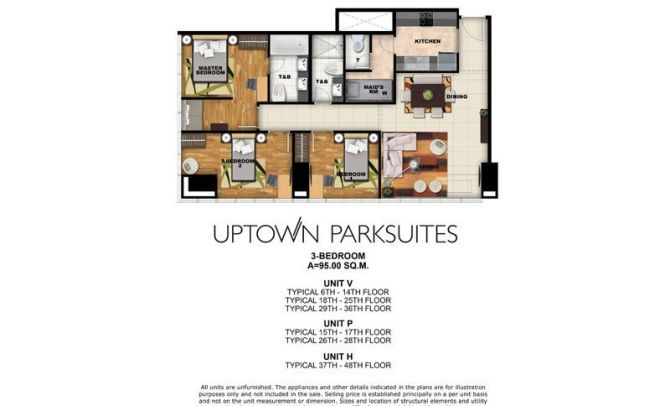 Three Bedroom Unit (95sqm)