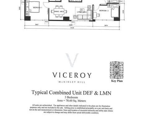 Three Bedroom Unit (Typical Combined Unit DEF & LMN)