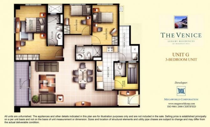 Three Bedroom Unit (Unit G)