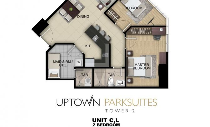 Two Bedroom Unit C,L