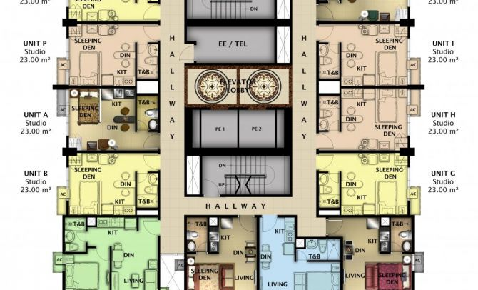 Typical 3rd-22nd Floor Plan