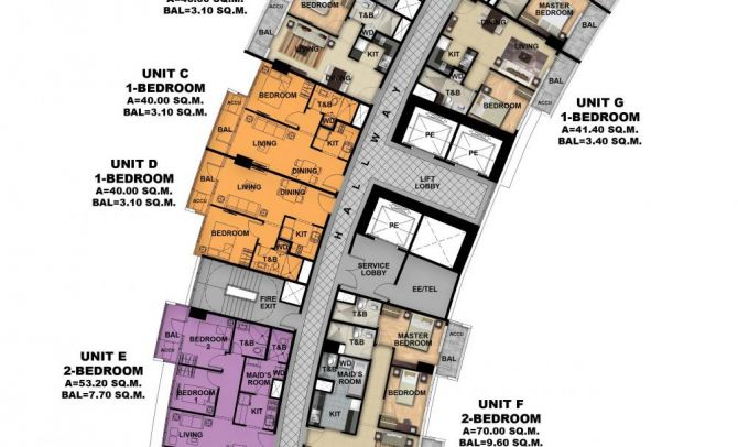 Typical Floor Plan (Tower 1)