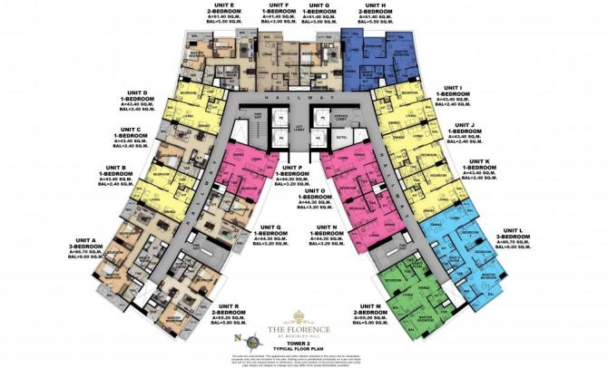 Typical Floor Plan (Tower 2)