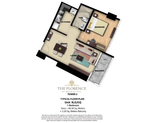1 Bedroom Unit Layout