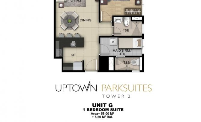 One Bedroom Suite Unit G