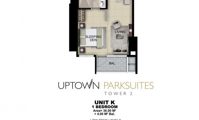 One Bedroom Unit K