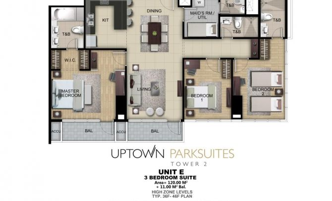 Three Bedroom Suite Unit E
