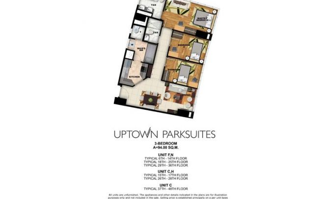 Three Bedroom Unit (94sqm)