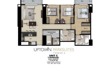 Three Bedroom Unit C