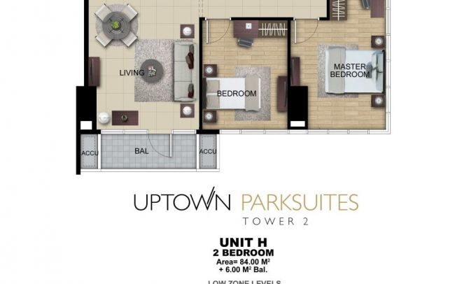 Two Bedroom Unit H