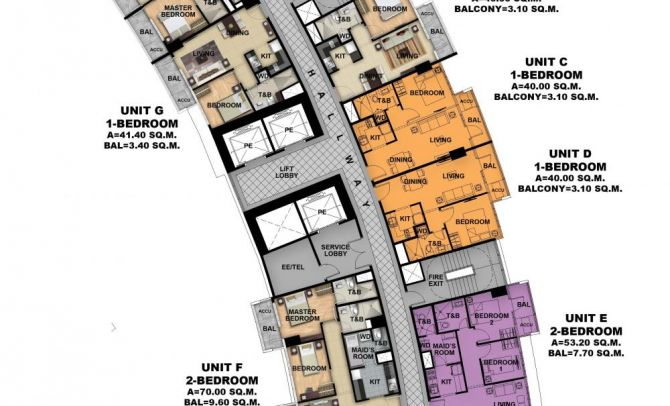 Typical Floor Plan (Tower 3)