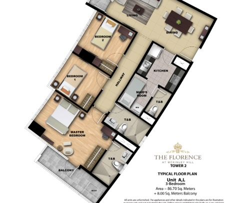 3 Bedroom Unit Layout