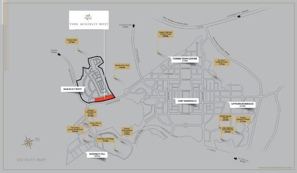 Park Mckinley West Condo Location Map